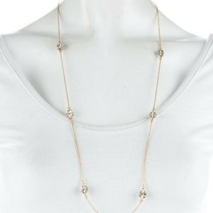 Kate Spade Lady Marmalade Crystal gold necklace